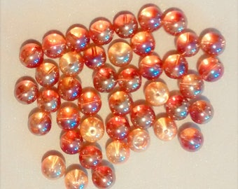 BF-226 Gold Iridescent Glass Beads