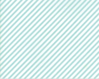 Vintage Holiday Aqua Bias Stripe 55168 22 by Bonnie & Camille for Moda