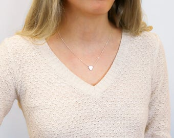 Minimalist Small Triangle Necklace, Gold Fill, gold triangle necklace • NTH12x91