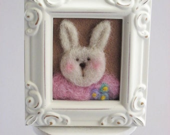 Needle Felted Bunny - Pastel Colors - Easter - Spring