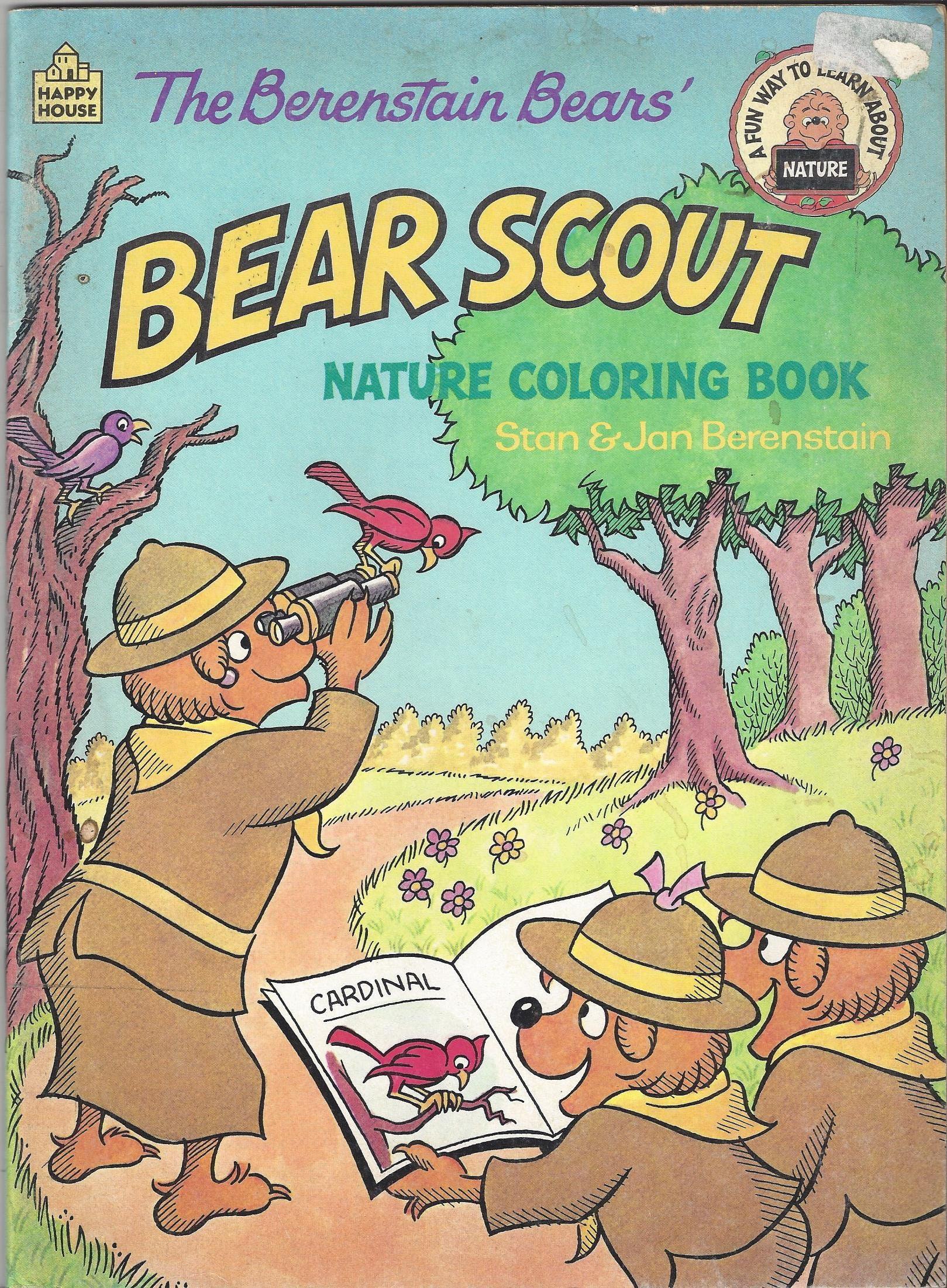 Vintage Bear los osos de Berenstain Scout naturaleza para