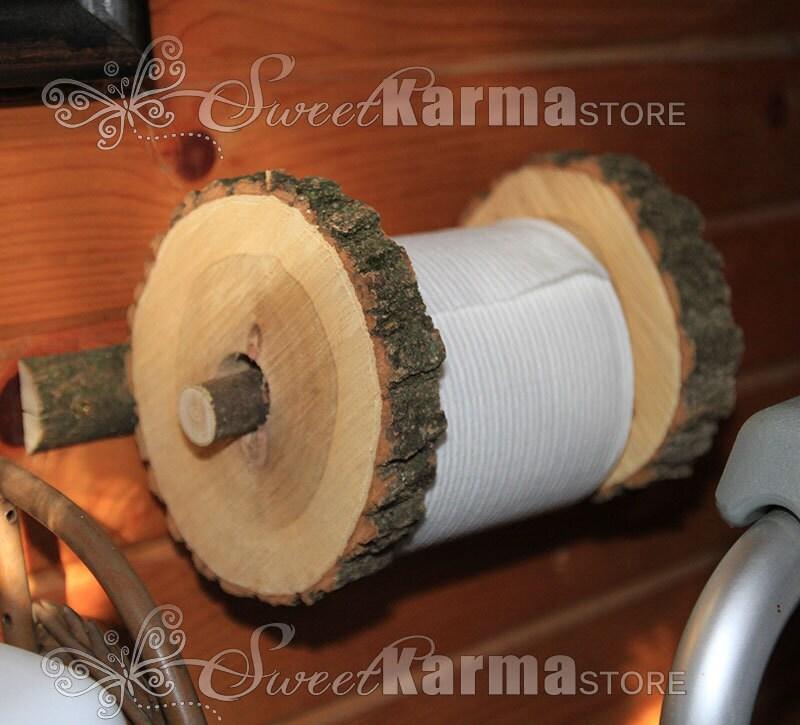 Portarrollos de papel higiénico de madera para cuarto de baño