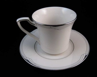 Noritake Sterling Cove Tea Cup & Saucer Set #7720