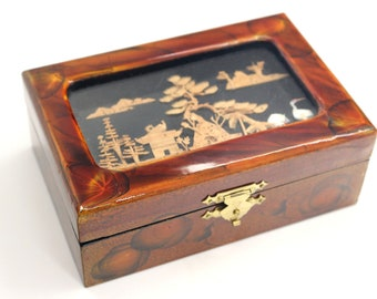 Wooden jewelry box Etsy