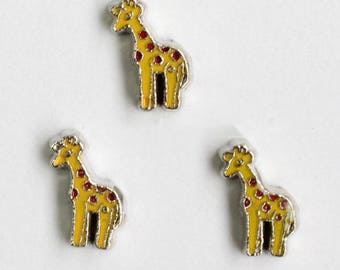 Giraffe Floating Charm for Glass Memory Locket FC45 - 1 Charm