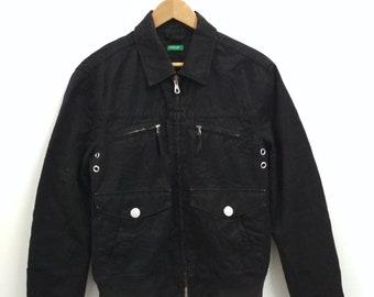 Rare Vintage United Colors Of Benetton Denim Jacket Size M