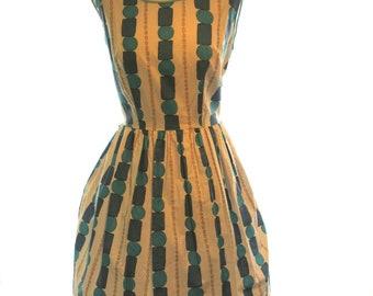 Vintage 1960s cotton dress / summer 60s dress