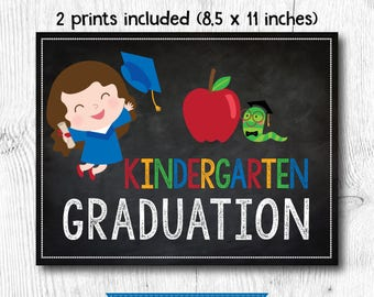 Last day of kindergarten sign, Preschool graduation sign, Last day of Preschool sign, 2 prints included, Digital files, Instant download