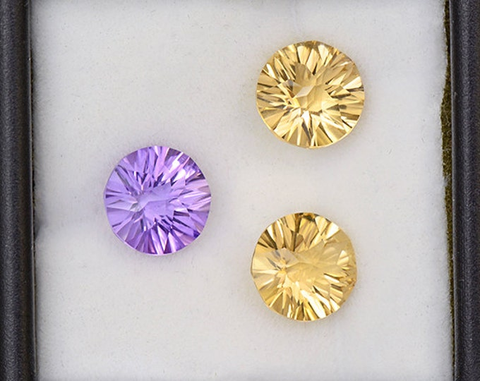 Beautiful Amethyst and Citrine Gemstone Set from Bolivia 4.81 tcw.