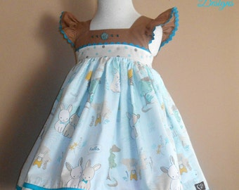 SALE - RTS Size 2T - Bunny Love Easter Dress - Easter Dress