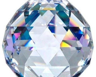 40mm Clear Chandelier Crystal Ball Asfour Full Lead Crystal Faceted Prism