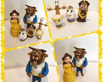 Beauty and The Beast Fondant Topper