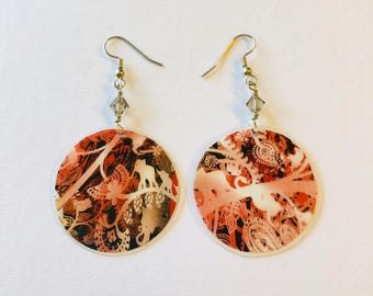 Dynamic Pattern Recycled Magazine Earrings