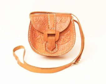 70s • Vintage • Hippie Bag • Leather Bag • Hippie Shoulder Bag • Hippie Crossbody Bag • Leather Hippie Bag • Brown Bag • Brown Leather Bag