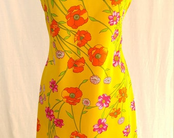 XL Vintage Dress 1960's 1970's Retro