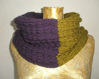 purple  and  olive-green scarf.
