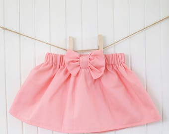 Pink Baby Skirt/ Bubblegum/ Baby Skirt/ Girls Skirt/ Toddler/ Newborn/ Bow/ Ruffle/ Highwaisted/ Dress/ Bubblegum Pink/ Baby Girl/Disneyland