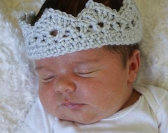 Yarn Crown, Crochet Crown, Prince Crown, Custom Crown, Photo Prop, Baby Crown, Baby Gift, Gifts for Children, Costume, Baby Crochet