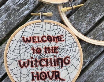 "The Witching Hour 4"" Horror Embroidery Hoop"