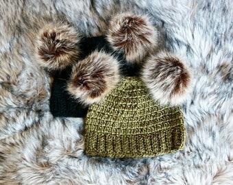 Hat   Double pompoms