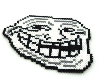 Trollololol Design - Trollololol Keychain - Trollololol Magnet - Funny Magnet - Internet Meme - Meme keychain - Perler Beads - Mini Perler
