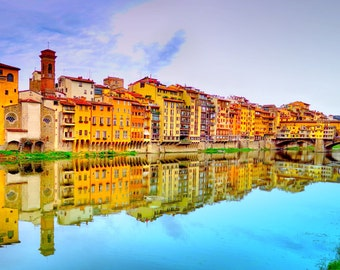 Photography Color landscapes,A view from the Bridge - Florence Italy,home decor,