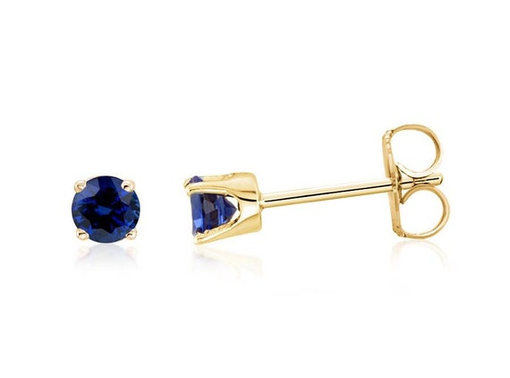 14ct Yellow Gold Polished 3mm Sapphire (sep) Leverback Earrings luzKx6KV
