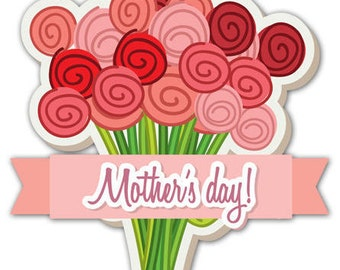 Mother's Day Bouquet Window Cling