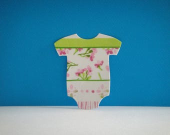 Rose cut Bodysuit collage flowers napkin