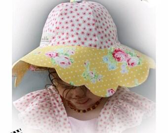 Sunhat Sun Hat - Daisy Doodle Sun Hat PDF Pattern - Infant through Adult size