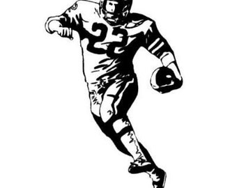 FOOTBALL PLAYER unmounted rubber stamp, sports, Super Bowl, Sweet Grass Stamps No.14