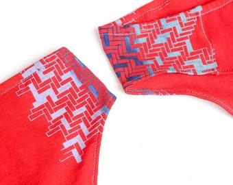Herringbone Chevron Handmade Underwear - Recycled Cotton - Women's 10 - Ready to Ship