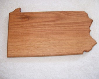 Pennsylvania state cutting board - made of oak