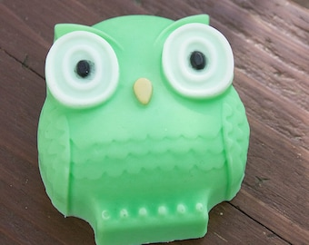 Owl Soap Green - Handmade Shea Butter and Glycerin Soap // Gifts for Her