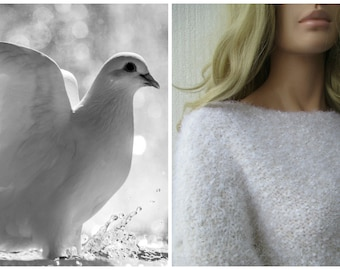 Sweater white fluffy