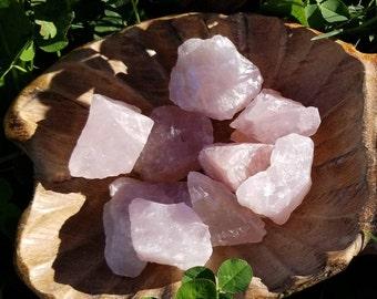 Rose Quartz - Rough, Raw, Natural Rose Quartz - Love Stone