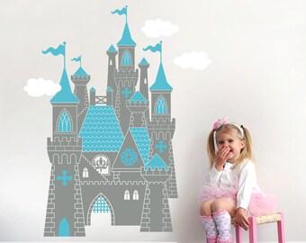 Cinderella Castle Decal: Fairy Tale Princess Wall Decal Room Decor