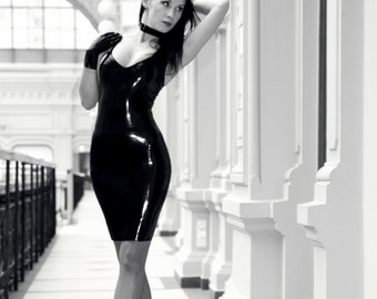 Classic latex dress