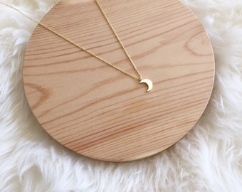 Mother's Day Gift, Tiny Moon Necklace