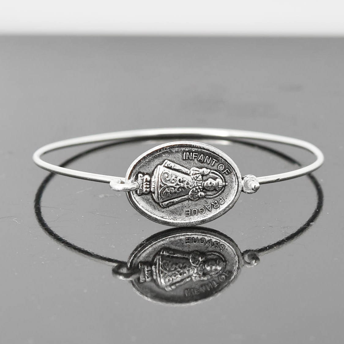 toddler oval small pin for sterling infant bangle bangles bracelet monogrammable engravable silver