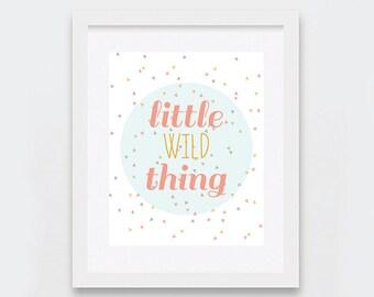 Nursery Decor, Little Wild Thing Modern Art Print, Baby Room Decor, Modern Nursery Wall Art, Confetti Print, Geometric Printable Nursery Art