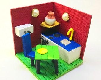 Handmade Miniature Dollhouse Wooden