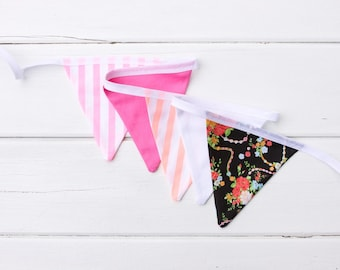"Good Will Bunting ""Fizz"" Neon and Floral Bunting"