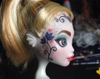 OOAK Monster High Custom Repaint Art Doll Lagoona Blue Photography Upcycled
