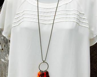 The Rhoda tassel necklace