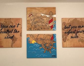 4 series ocean canvas
