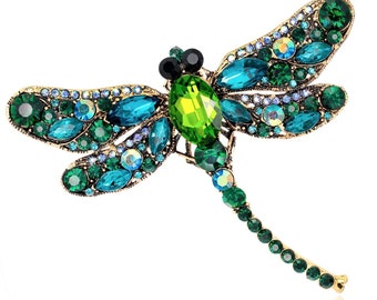 Green Dragonfly Brooch -  Lovely.
