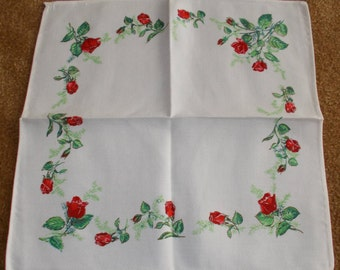 Vintage Linen Napkins Set of Four