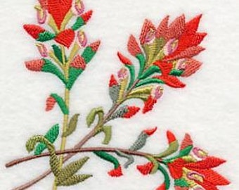Embroidered Indian Paintbrush Towel - Embroidered Flower Towel - Flour Sack Towel - Hand Towel -Bath Towel - Fingertip Towel - Apron