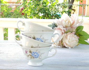 Favolina Marjorie Tea Cups Set of 4 Orphan Tea Cups Tea Party, Antique Wedding, Bridesmaid Gifts Made in Poland
